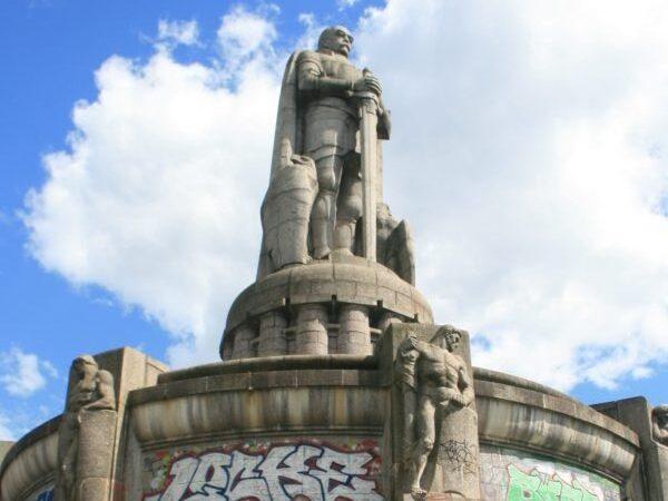 Hamburg. Pomnik Bismarcka, żelaznego kanclerza
