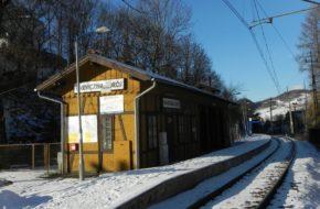 Piwniczna-Zdrój Kolejowy przystanek po drodze w góry