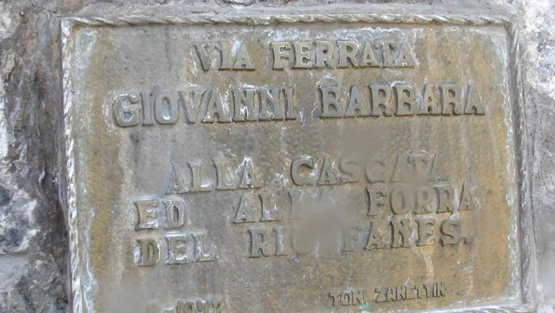 """Fanes. Ferrata """"Barbara"""" i wodospady w wąwozie"""