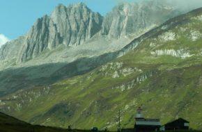 Oberalp Kolejowa przełęcz między kantonami