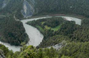 Ruinaulta Pociągiem przez kanion Przedniego Renu