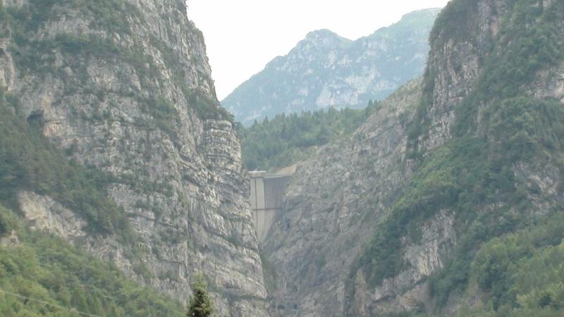 Longarone. Miasto zatopione w wyniku katastrofy