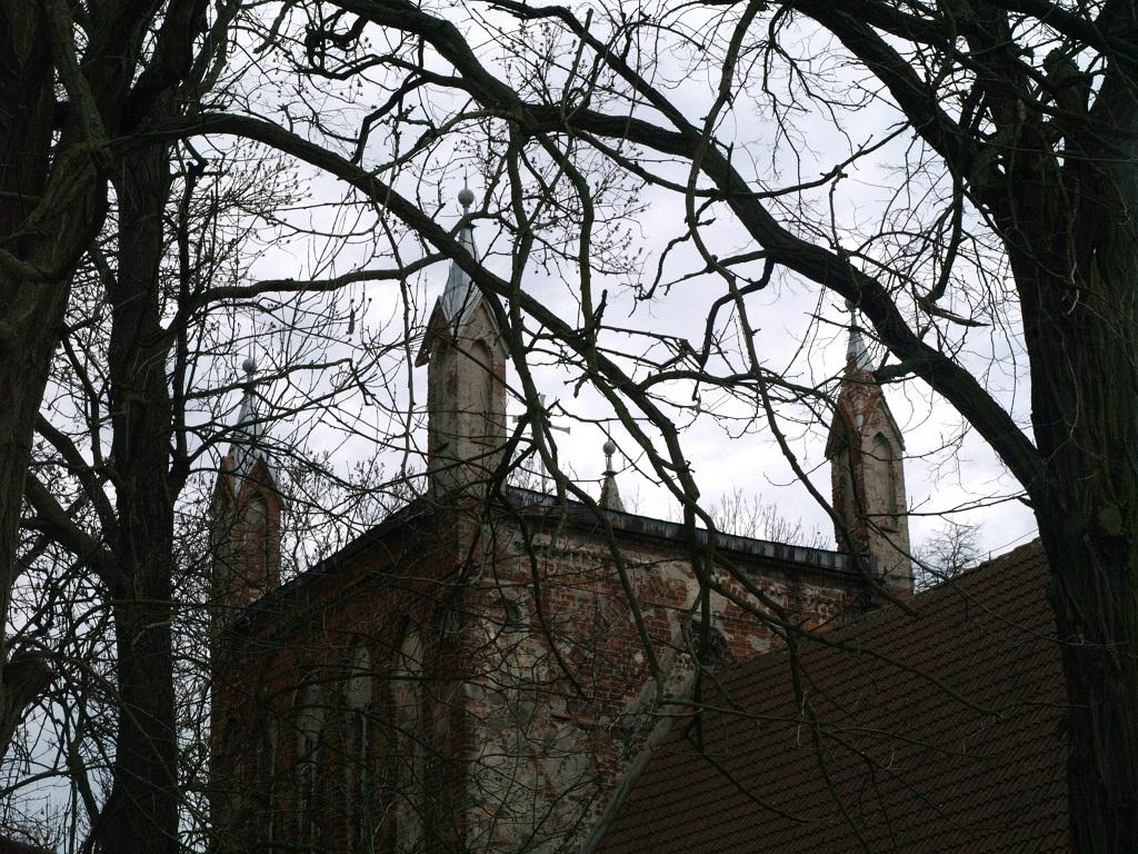 Wierzbno. Malowany strop kościoła