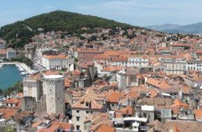 Split Miasto wyrosłe wokół pałacu
