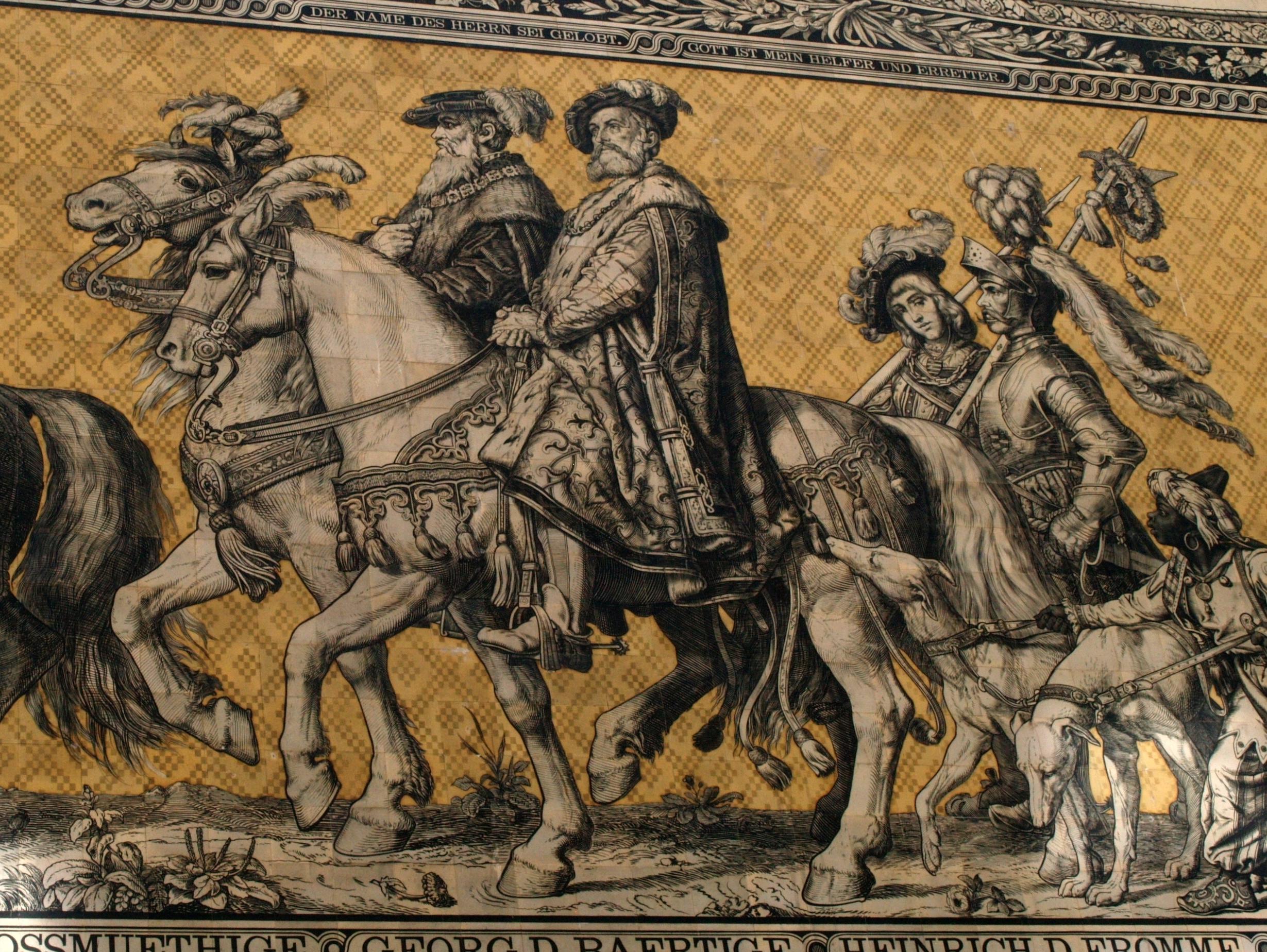 Drezno. Fürstenzug – największy portret rodzinny