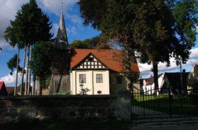 Wysiedle Pomorski wiejski kościółek von Borcków