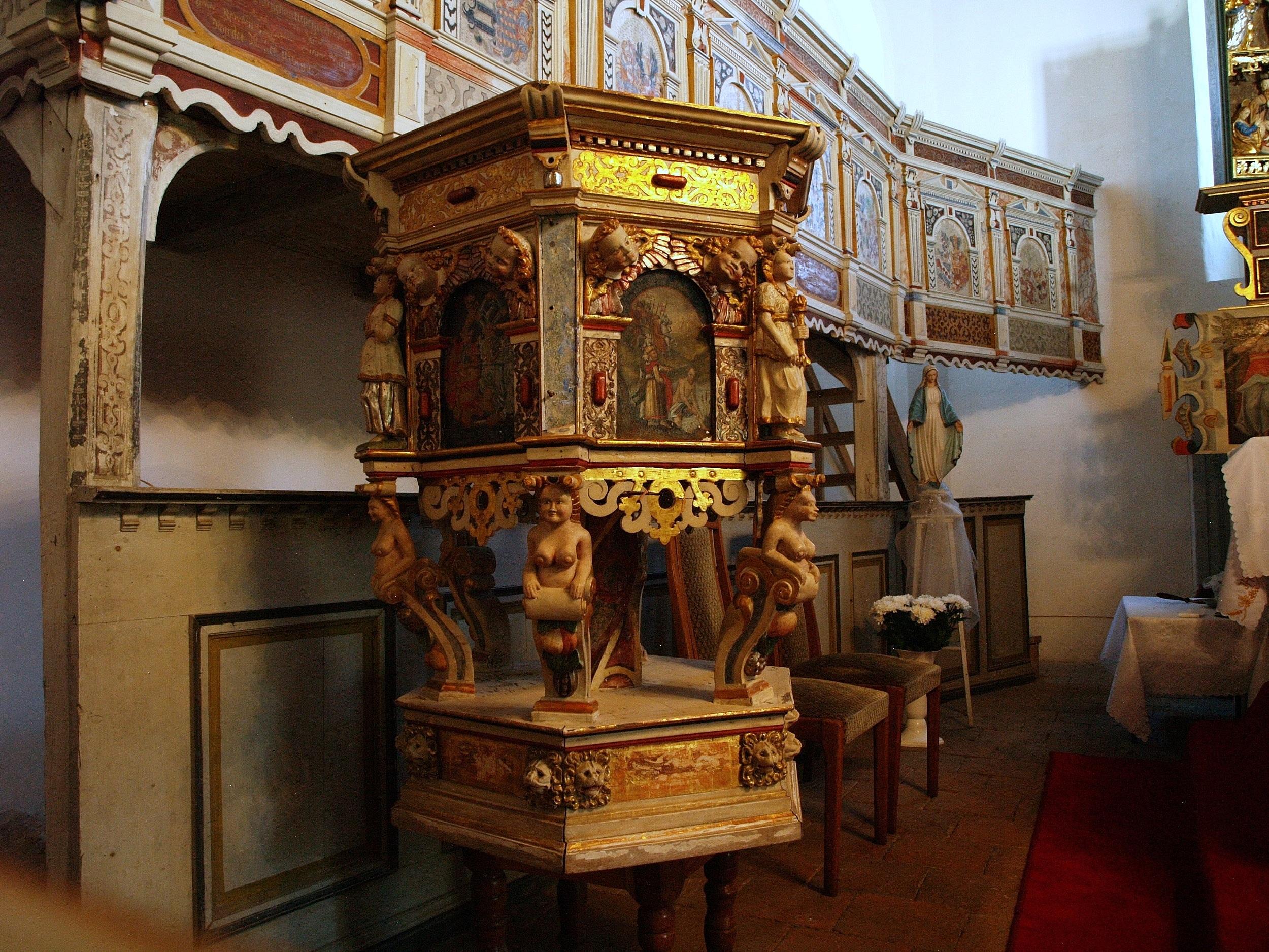 Wysiedle. Pomorski wiejski kościółek von Borcków