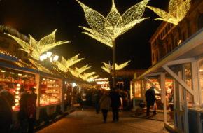 Wiesbaden Wrzawa i iluminacje na jarmarku