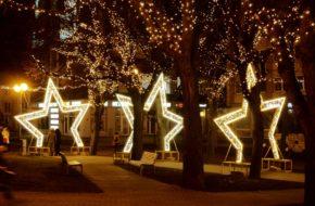 Poprad Świąteczne iluminacje pod Tatrami