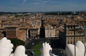 Rzym Taras widokowy z kwadrygami