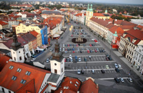 Hradec Králové Spogladam na miasto z Białej Wieży