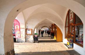 Litomyšl Kamieniczki wokół rynku
