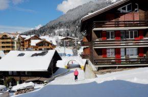 Wengen Pierwszy zjazd, slalom, pierwszy wyciąg