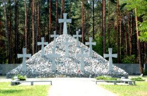 Bykownia Miejsce pamięci w podkijowskim lesie