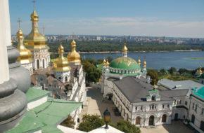 Kijów Na wielkiej dzwonnicy Pieczerskiej Ławry