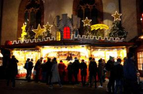 Bazylea Tłumny jarmark bożonarodzeniowy