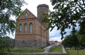 Człuchów Krzyżacki zamek, największy po Malborku