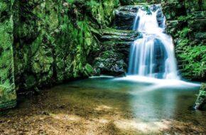 Rešov Reszowskie wodospady na Huntawie