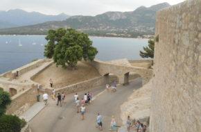 Calvi Pałace i kościoły za murami cytadeli