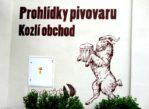 Velké Popovice. Browar z żywym kozłem w zagrodzie