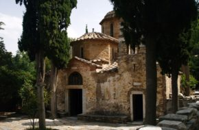 Ateny Monastyr Kesariani na górze Hymet
