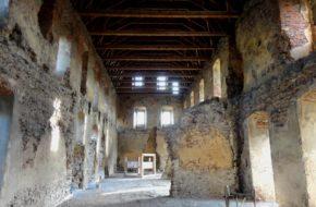Točník Gotycki zamek i niedźwiadki w fosie