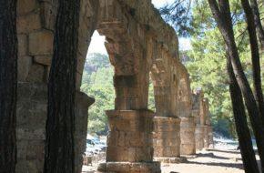 Phaselis Greckie ruiny między zatokami