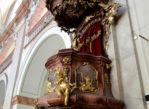 Uherské Hradiště. Barokowa fara na dębowych palach