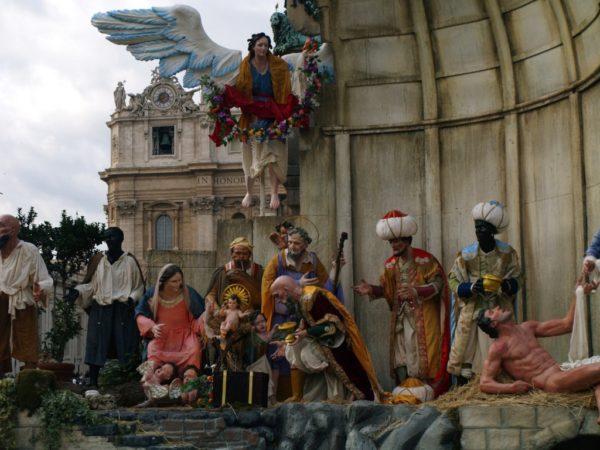 Watykan. Szopka na Placu św. Piotra