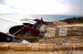 Kurion Antyczne ruiny z widokiem na morze