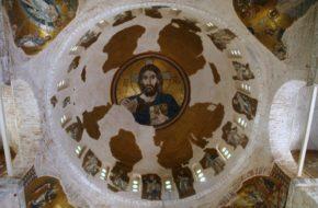 Ateny Złote mozaiki w klasztorze Dafni