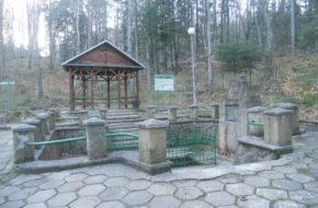 Iwonicz-Zdrój Przez park zdrojowy do źródła Bełkotka