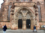 Norymberga. Kościół na fundamentach synagogi