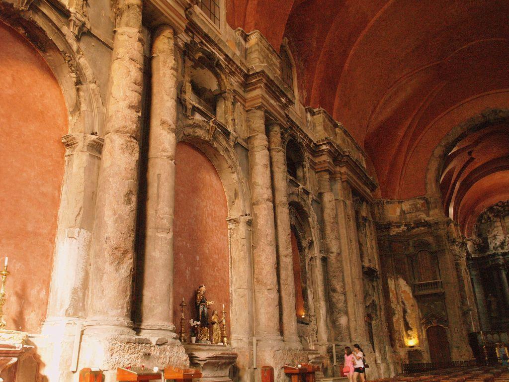 Lizbona. Spalony kościół św. Dominika