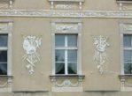 Lewków. Pałac zdobny w sztukaterie