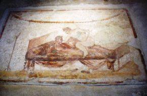 Pompeje Seks starożytnych u stóp Wezuwiusza