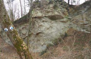 Glinne Leski Kamień, pierwsza skała pod ochroną