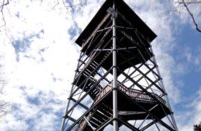 Iwkowa Nowa wieża widokowa na Szpilówce