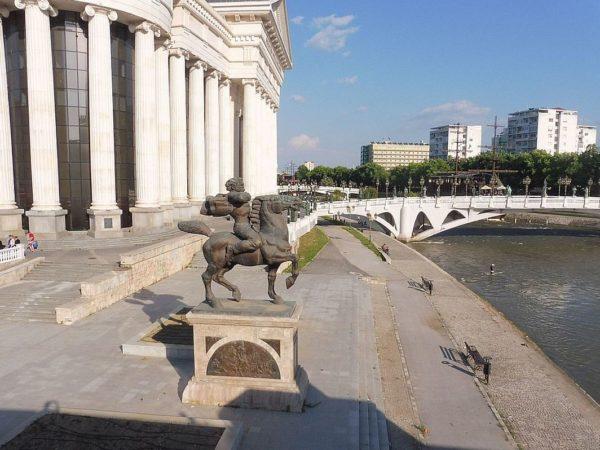 Skopje W stolicy Macedonii Północnej