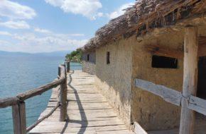 Jezioro Ochrydzkie Osada sprzed 3 tys. lat w Zatoce Kości