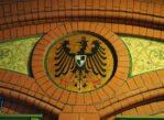 Malbork. Pruska kolej i herby pruskich miast