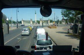 Budapeszt Węgierska stolica z okien autokaru