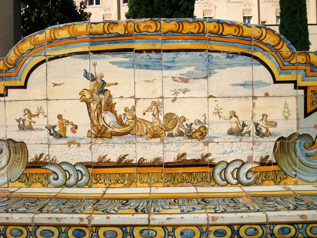 Neapol. Majoliki w klasztorze św. Klary