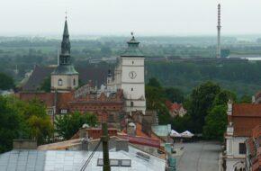 Sandomierz Z Wieży Opatowskiej spojrzenie na miasto