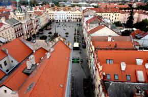 Pardubice Widoki z wieży Zielonej Bramy