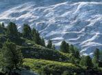 Bettmeralp. Potężny Aletsch wije się w dolinie