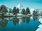 Zermatt. Tu Matterhorn przegląda się w wodzie