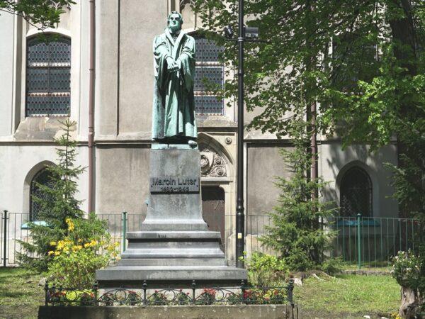 Bielsko-Biała. Jedyny w Polsce pomnik Marcina Lutra